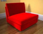3D model of IKEA Kivik One-Seat Section