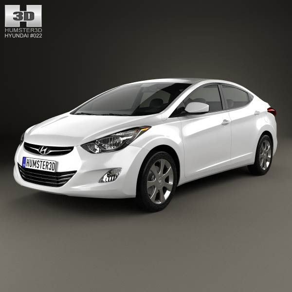 Hyundai Elantra (i35) Sedan 2012 3d car model