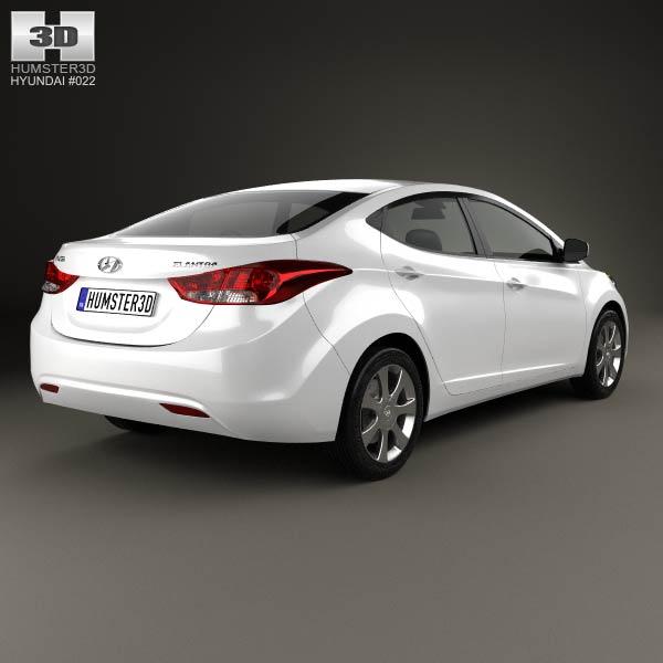Hyundai Elantra (i35) Sedan 2012 3d model