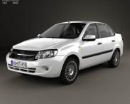 3D model of Lada Granta sedan 2012