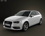 3D model of Audi A3 Hatchback 3-door 2013