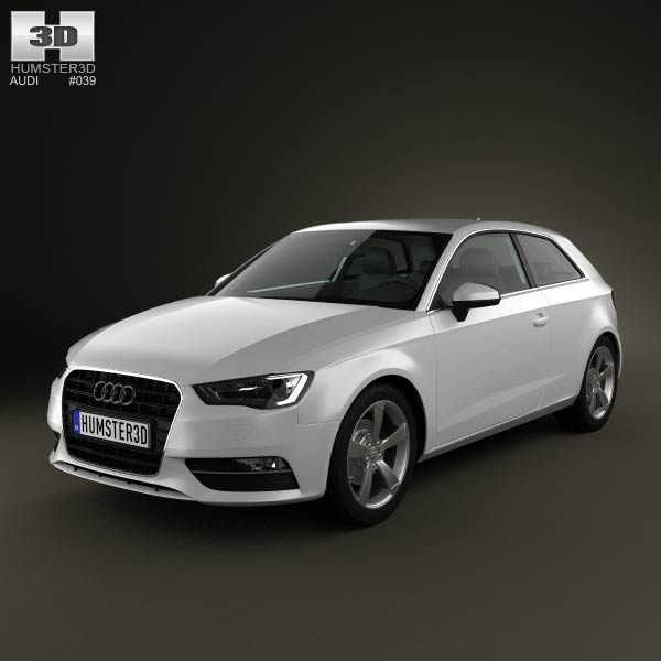Audi A3 Hatchback 3-door 2013 3d car model