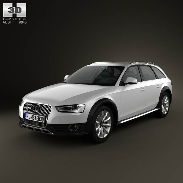 Audi A4 Allroad 2013 3d car model