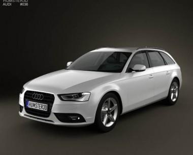 3D model of Audi A4 Avant 2013
