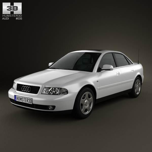 Audi A4 Sedan 1999 3d car model
