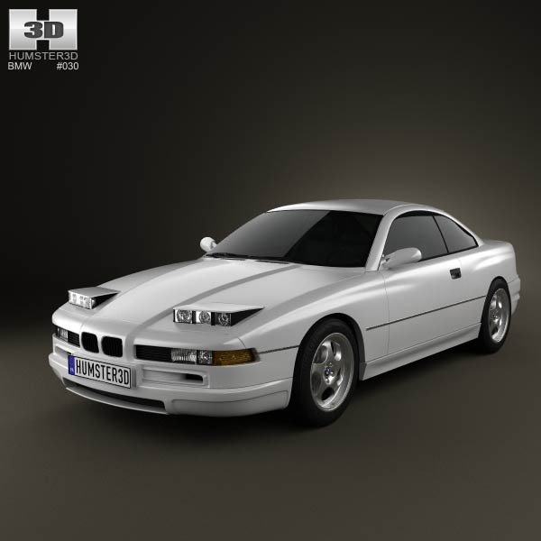 BMW 8 Series (E31) 3d car model