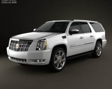 3D model of Cadillac Escalade ESV 2011