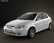 3D model of Chevrolet Lacetti Hatchback 2011