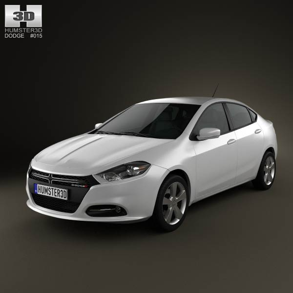 Dodge Dart 2013 3d car model