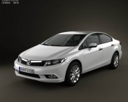 3D model of Honda Civic Sedan 2012