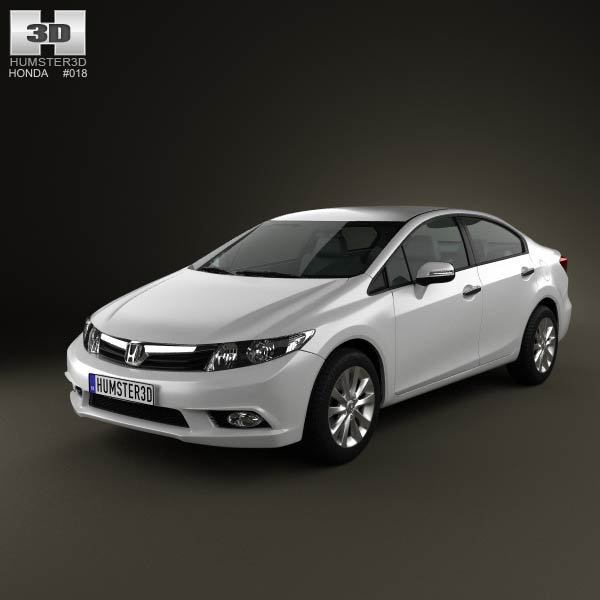 Honda Civic Sedan 2012 3d car model
