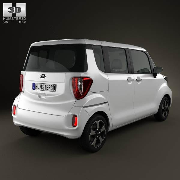 Kia Ray 2012 3d model
