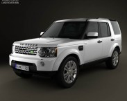 3D model of Land Rover Discovery 4 (LR4) 2012