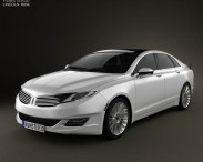 3D model of Lincoln MKZ 2013