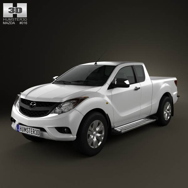 Mazda BT-50 Crew Cab 2012 3d car model