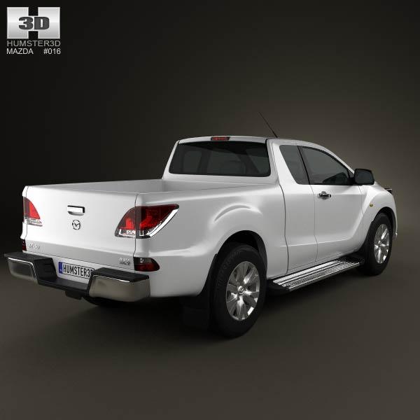 Mazda BT-50 Crew Cab 2012 3d car model