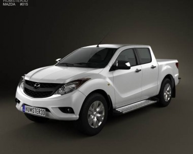 3D model of Mazda BT-50 Dual Cab 2012