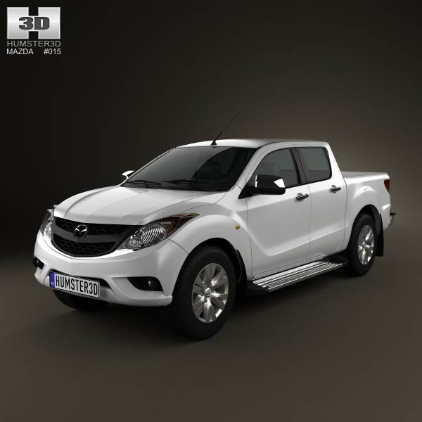 Mazda BT-50 Dual Cab 2012 3d car model