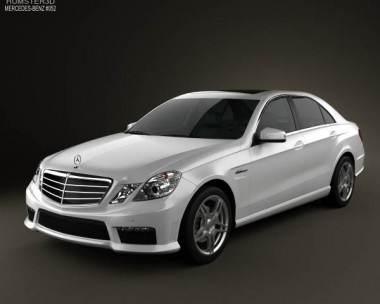 3D model of Mercedes-Benz E63 AMG (W212) sedan 2010