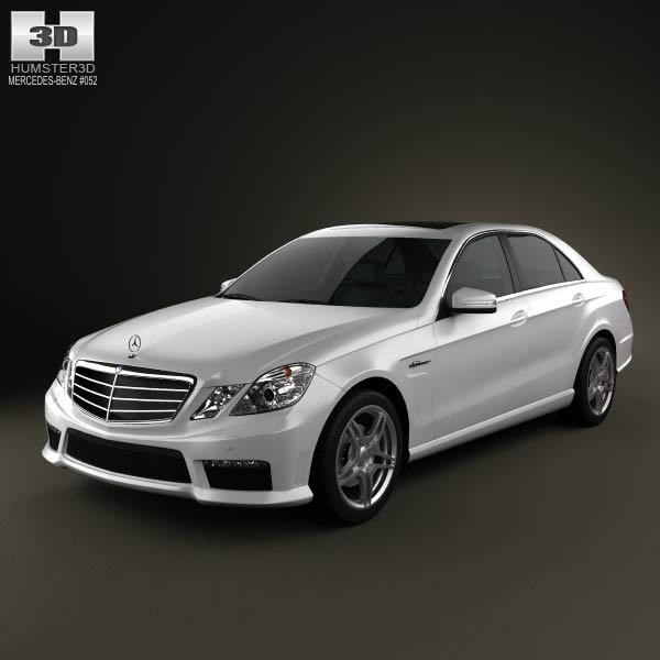 Mercedes benz e63 amg w212 sedan 2010 3d model humster3d for Mercedes benz sedan models