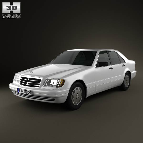 Mercedes-Benz S-class (W140) 1999 3d car model