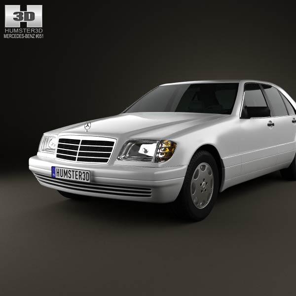 Mercedes benz s class w140 1999 3d model humster3d for 1999 mercedes benz s class
