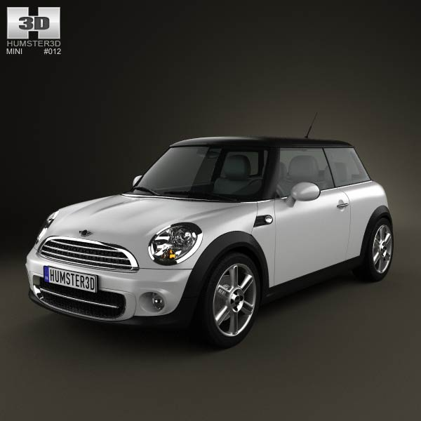 Mini One Hardtop 2011 3d car model