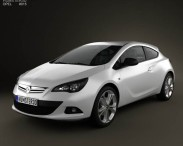 3D model of Opel Astra GTC 2012