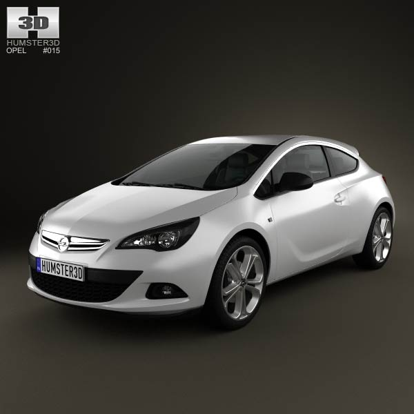 Opel Astra GTC 2012 3d car model