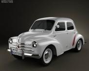 3D model of Renault 4CV sedan 1947-1961