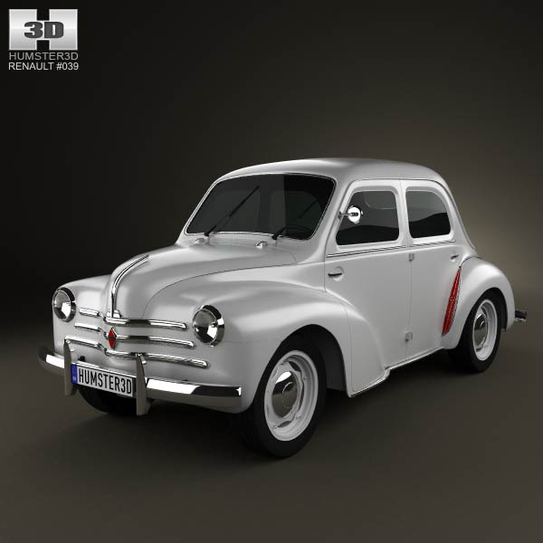 Renault 4CV sedan 1947-1961 3d car model