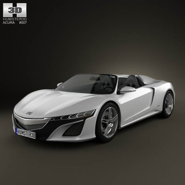Acura NSX convertible 2012 3d car model