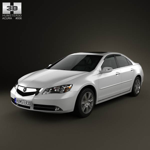 Acura RL 2012 3d car model