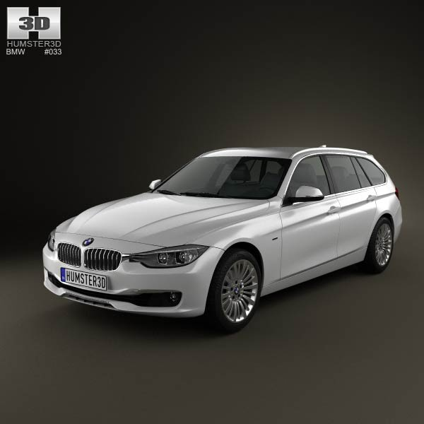 BMW 3 Series (F31) touring 2012 3d car model