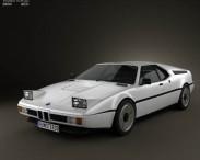 3D model of BMW M1 1978