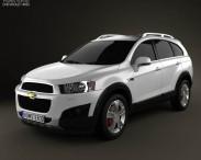 3D model of Chevrolet Captiva 2012