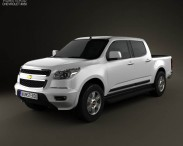 3D model of Chevrolet Colorado S-10 Crew Cab 2013