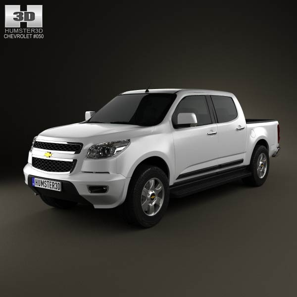 Chevrolet Colorado S-10 Crew Cab 2013 3d car model
