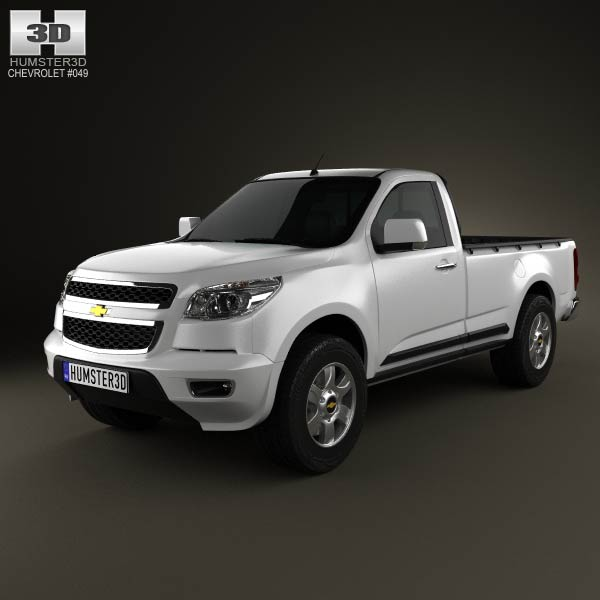 Chevrolet Colorado S-10 Regular Cab 2013 3d car model