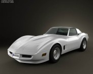 3D model of Chevrolet Corvette Stingray (C3) Coupe 1974