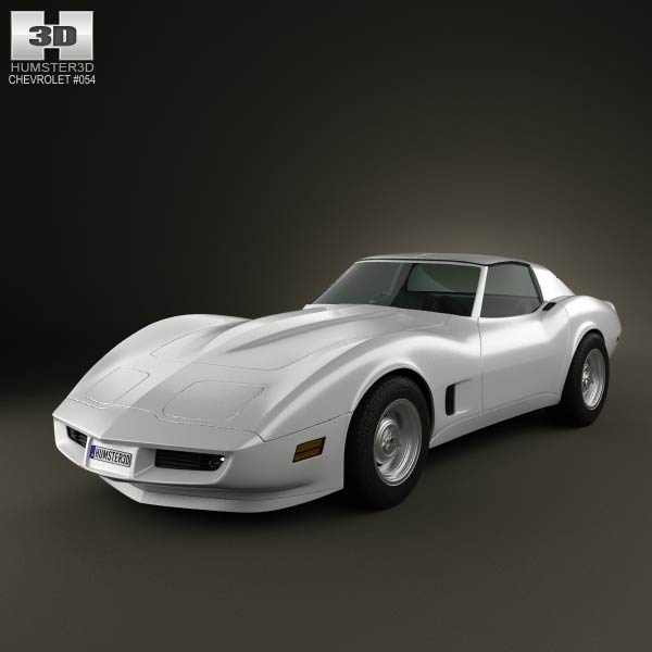 Chevrolet Corvette Stingray (C3) Coupe 1973 3d car model