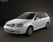 3D model of Chevrolet Lacetti Wagon 2011