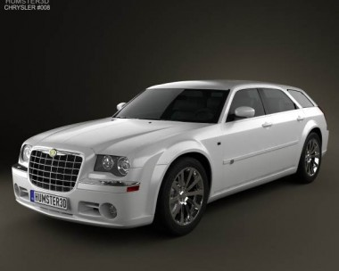 3D model of Chrysler 300C wagon 2009