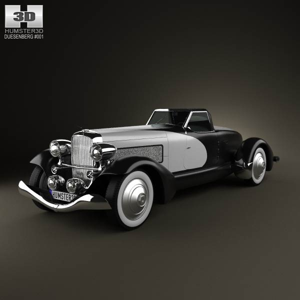 Duesenberg SJ Boattail Speedster 1933 3d car model
