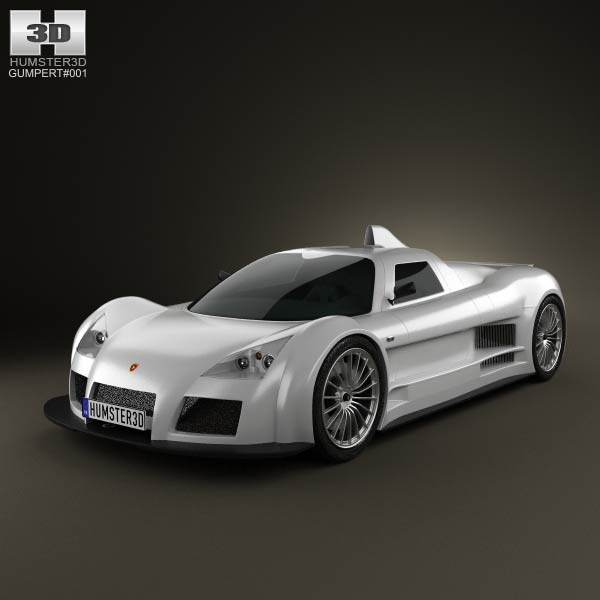 Gumpert Apollo 2008 3d car model