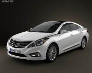 3D model of Hyundai Azera 2012