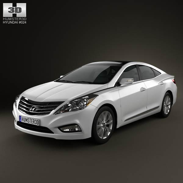 3D model of Hyundai Azera 2012