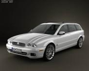 3D model of Jaguar X-Type estate 2009