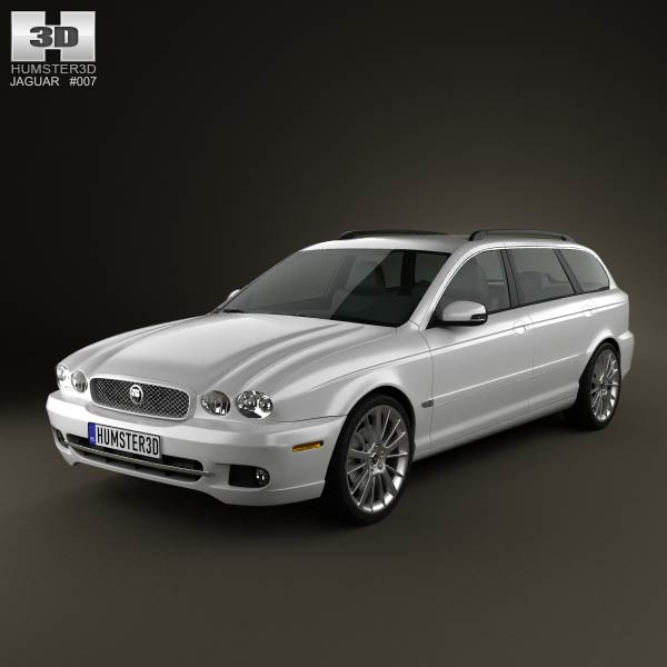 Jaguar X-Type estate 2009 3d car model