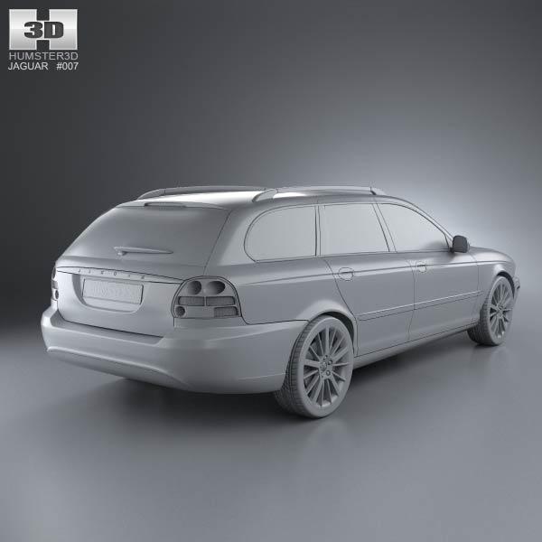 jaguar x type estate 2009 3d model humster3d. Black Bedroom Furniture Sets. Home Design Ideas